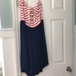 Target brand strapless dress
